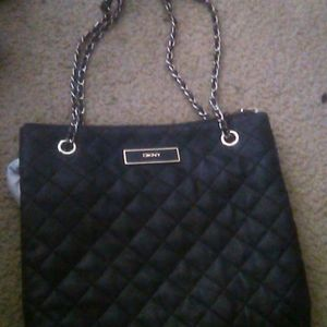DKNY Women's Quilted Leather Purse